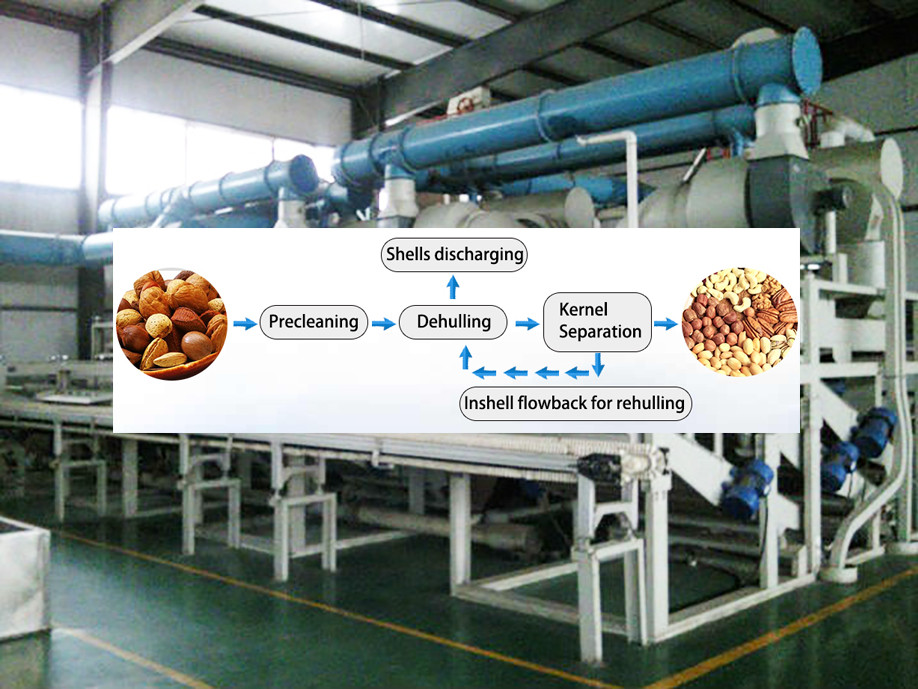 Low Cost Peanut Peeling Groundnut Half Separating Machine