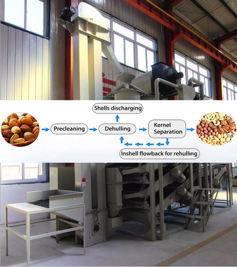 Automatic Peanut Beans Half Cutting Cocoa Bean Peeling Machine