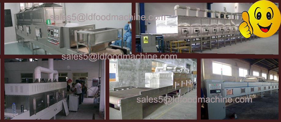 Industrial big capacity food factory use microwave oven for heating