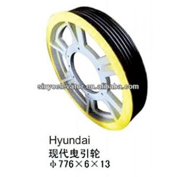 hyundai elevator parts:Traction Wheel