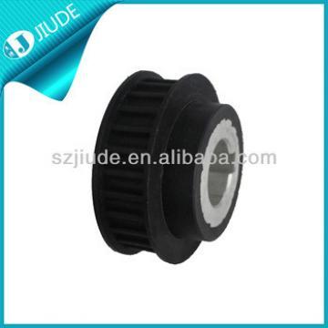 Elevator roller motor pulley