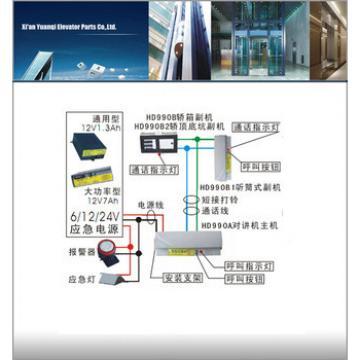hyundai elevator monitoring system HD990A elevator intercom