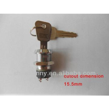 Push button key switch good quality low price made in China model 2801