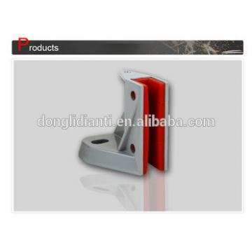 Schindler elevator rail guide shoe with traction lift