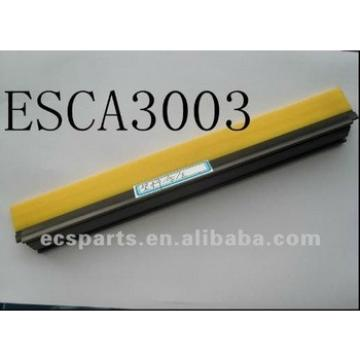 Yellow PVC with PVC Holder & Black Plastic End Cappings Escalator Safety Brush