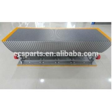 Escalator step ;Aluminum,Silver clour;Yellow plasic insert;1000mm
