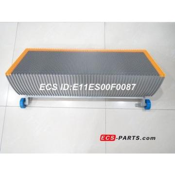 Replacement escalator step for Schindler 1000mm Gray with yellow plastic demarcation with roller