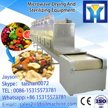 Belt conveyor microwave drying and sterilizing machine for rice bran