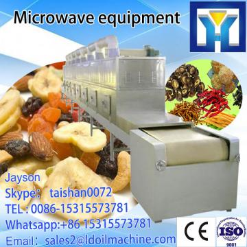Continuous tunnel type microwave beaf dehydration and drying machine