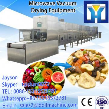 CE tunnel conveyor type microwave sliced cassava drying machine
