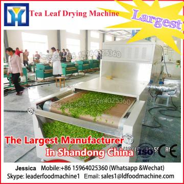 Tunnel type microwave dryer and sterilizing machine for herb