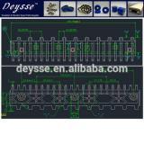 Hyundai Escalator Demarcation Line 645B032H06 C1-AL Step-9.125*14