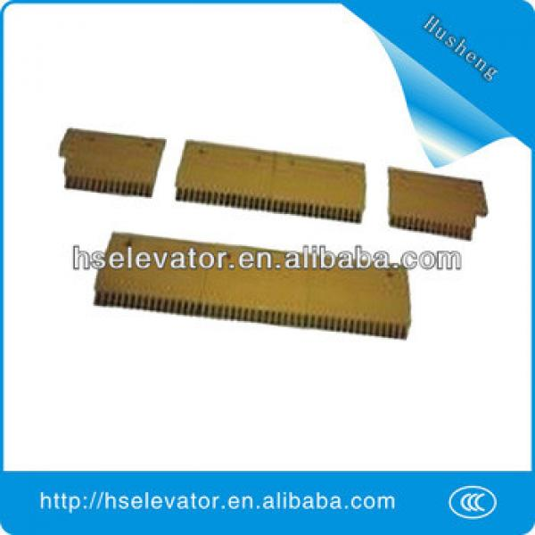 escalator comb floor plate, escalator yellow strip, escalator comb price #1 image