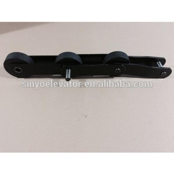escalator step chain- Hyundai S650,T=135.47, roller is polyurethane(PU) with size 76x25 #1 image