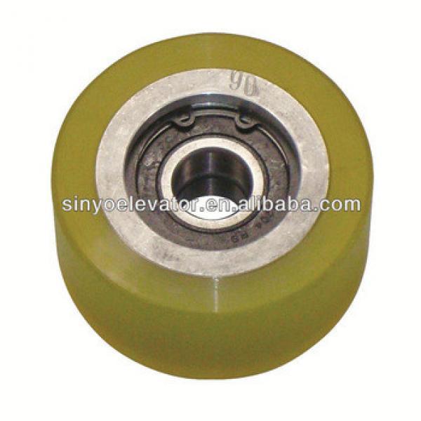 hyundai elevator parts:Handrail Roller 87*42 6204 Double Bearing ID:20 S613C020 #1 image