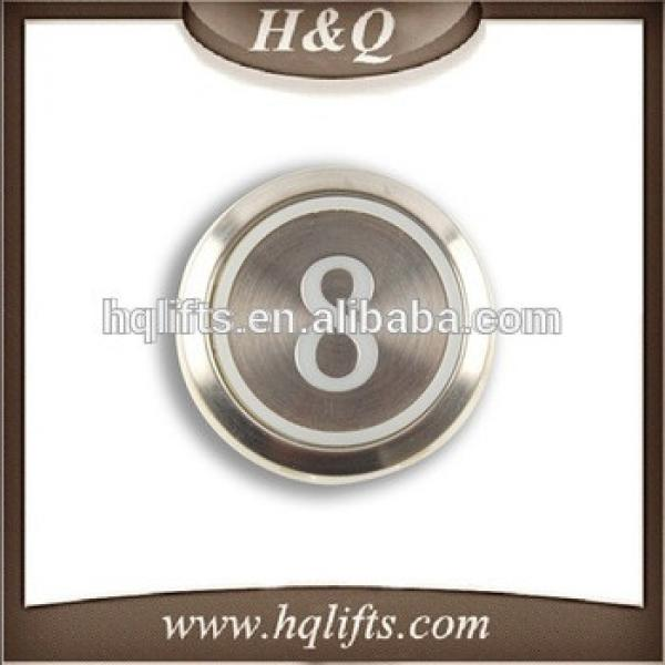 Elevator Kone Buttons Lift Spare Parts Stainless Steel Round Shape Push Call Button MTD-270 #1 image