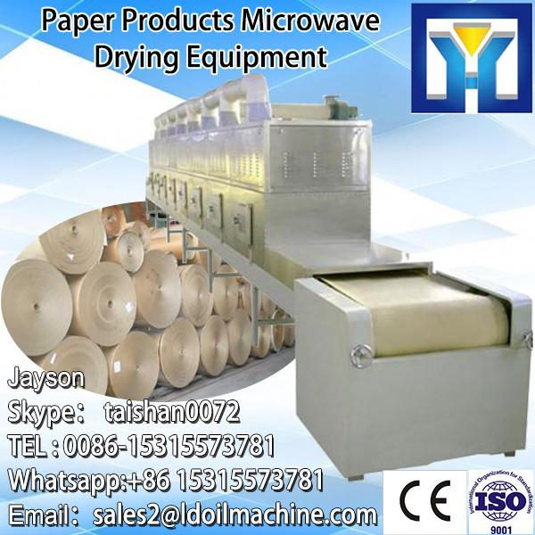 tunnel continuous conveyor belt type industrial microwave oven for drying and sterilizing cocoa powder #1 image